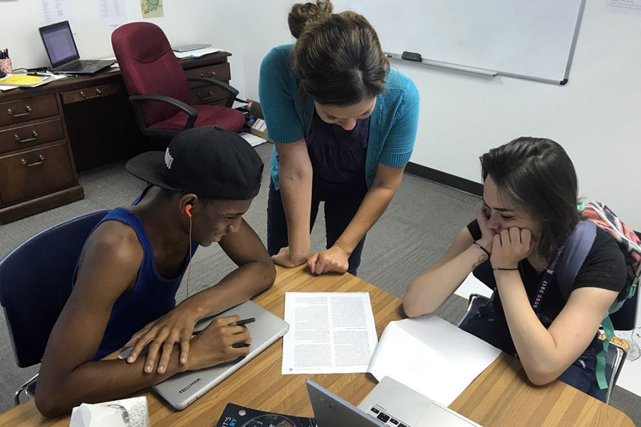 group of students working on a project