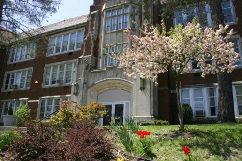 building of bishop ward high school