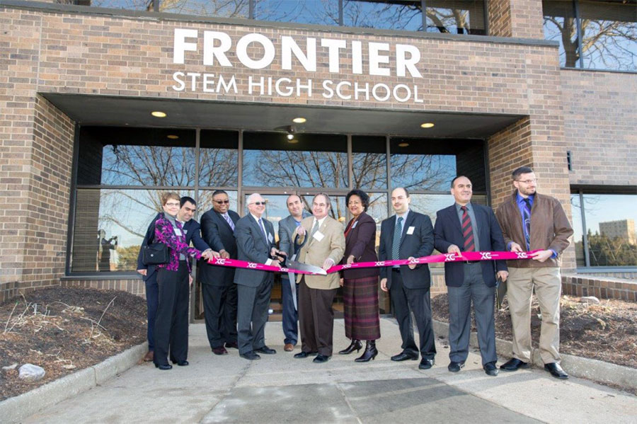 building of frontier stem high school