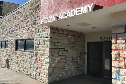 entrance to plaza academy