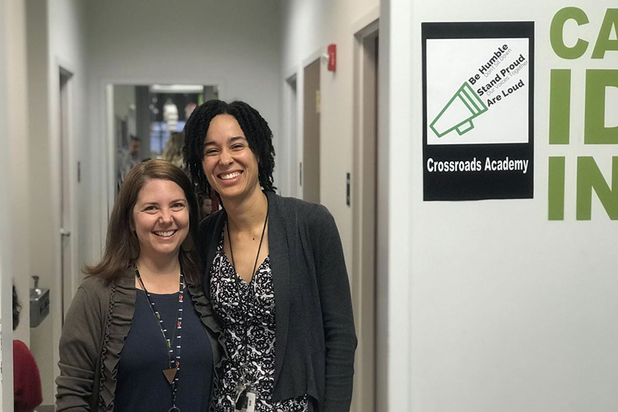 Principal Laura LaCroix (featured left) and Assistant Principal Karis Parker (featured right)