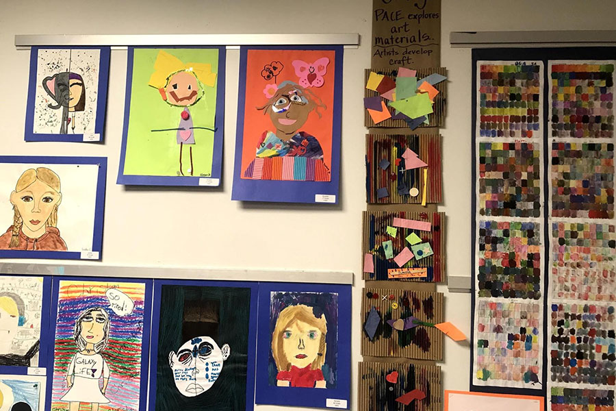 art projects displayed