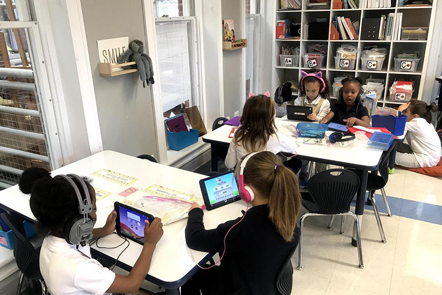 first graders completely online assignment