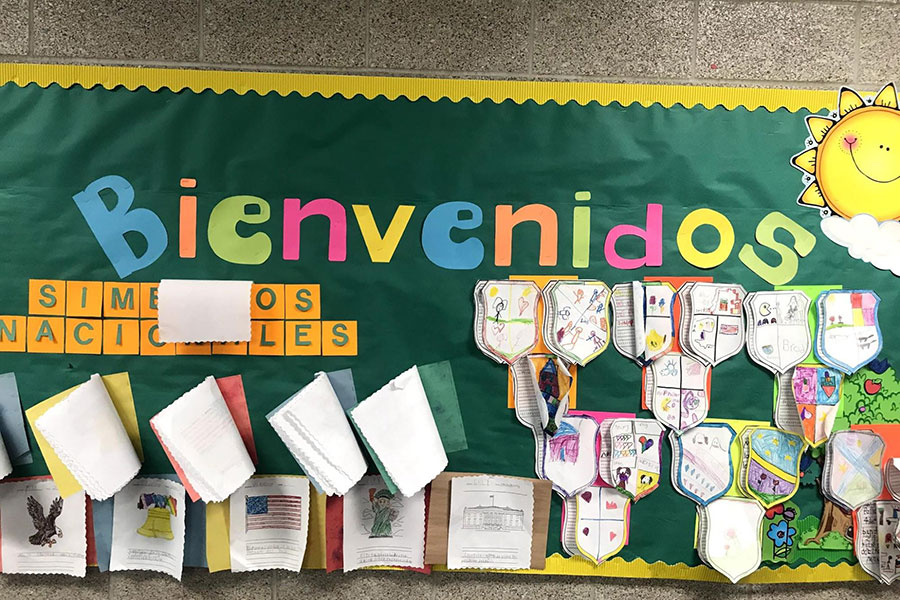 bulletin board in chinese and spanish