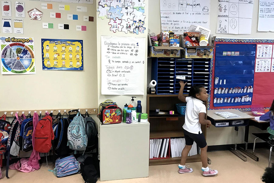 book bags in classroom