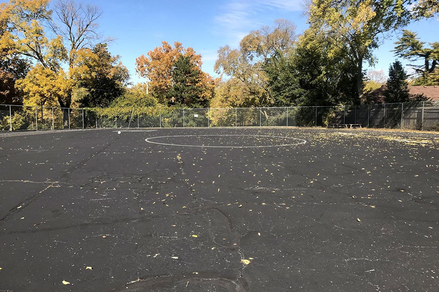 blacktop area for play