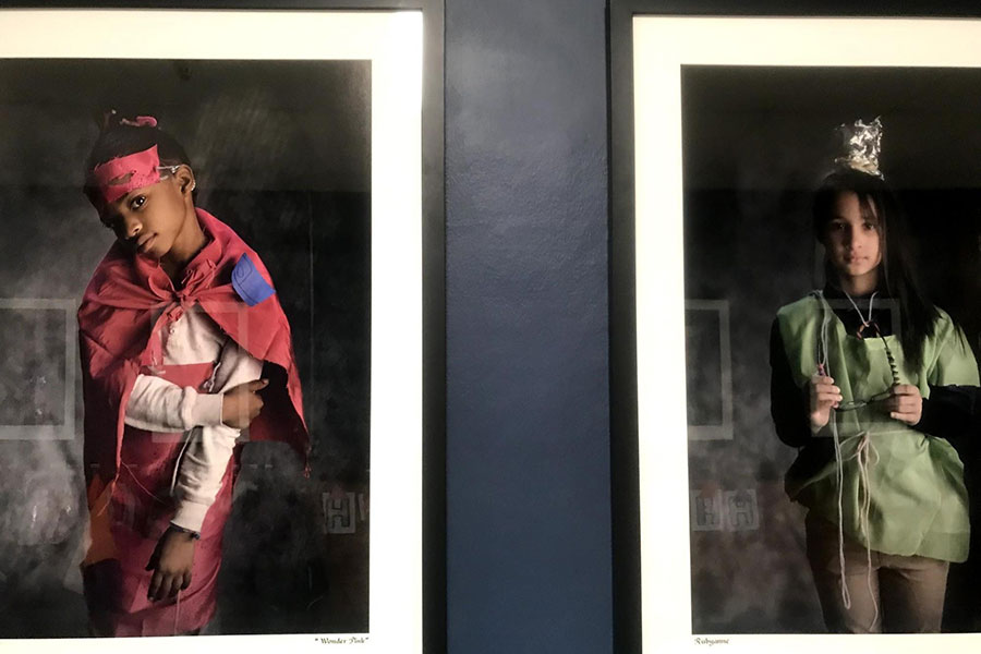 students featured as superheroes