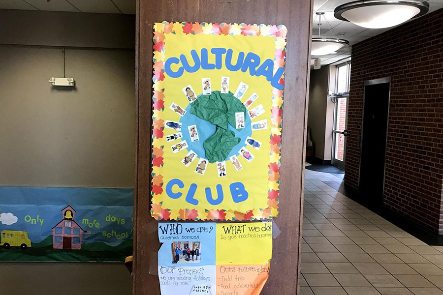 cultural club poster and elevator