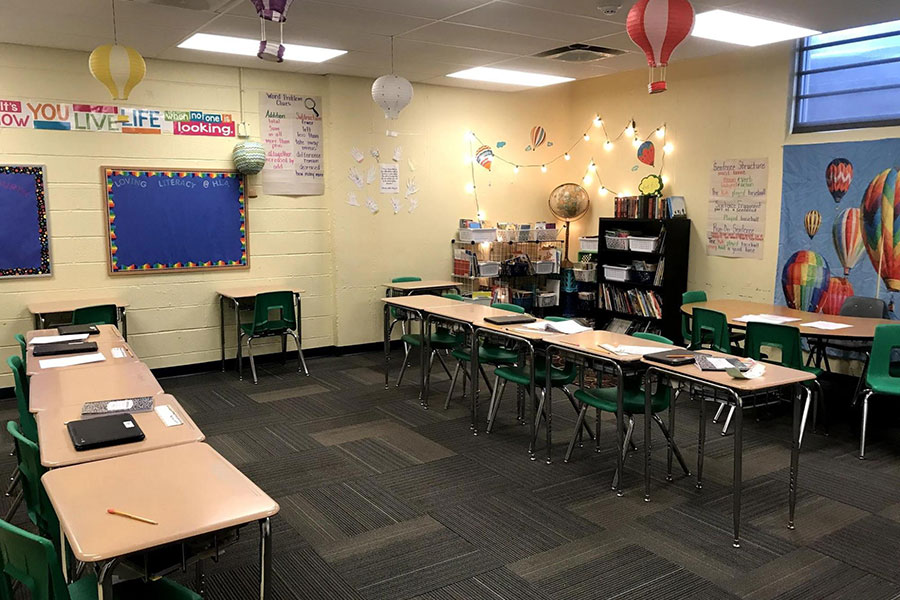 individual desks for upper elementary