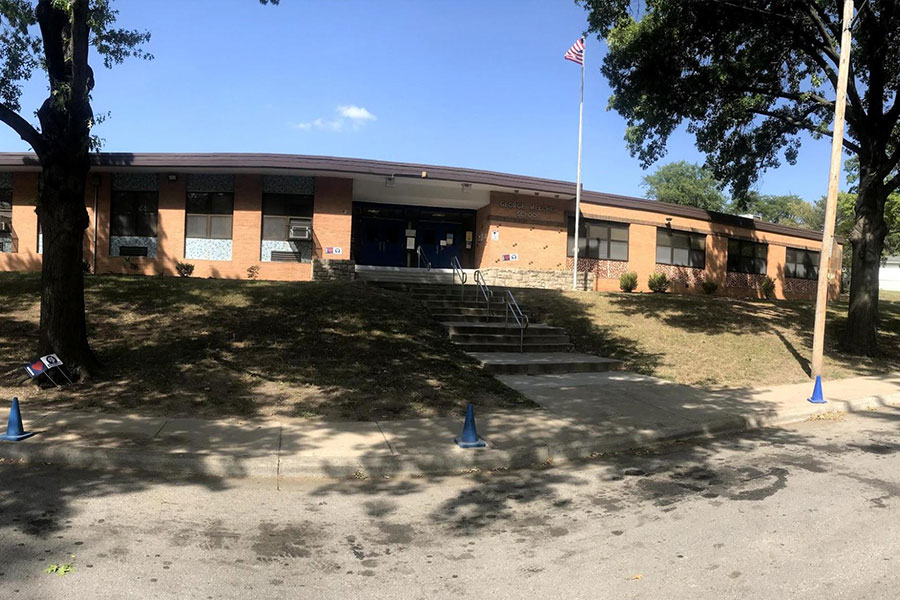 Front of Melcher Elementary School