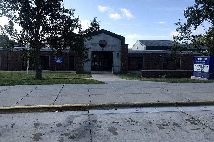 Front of Pitcher Elementary School