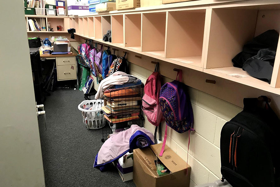 backpacks and cubbies for each student