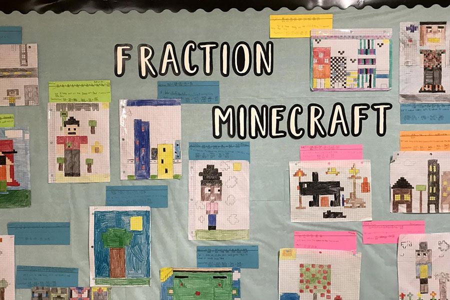 fraction Minecraft bulletin board