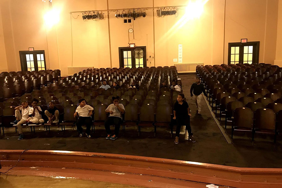 Students in auditorium