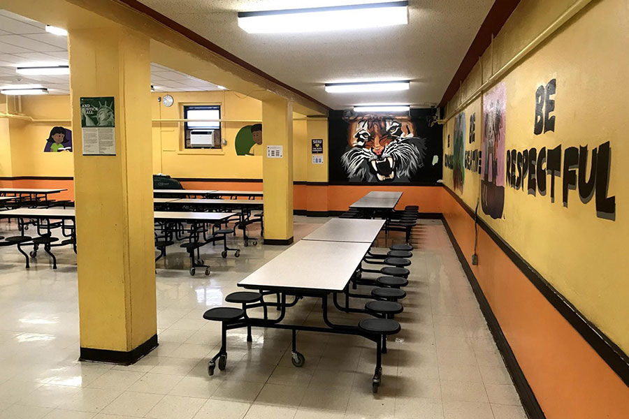 Troost elementary lunch room