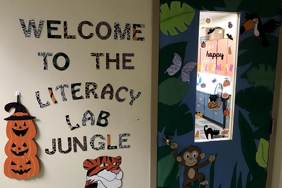 Literacy lab doorway