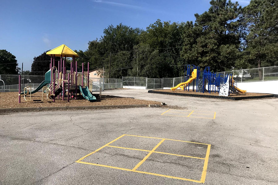 two playgrounds